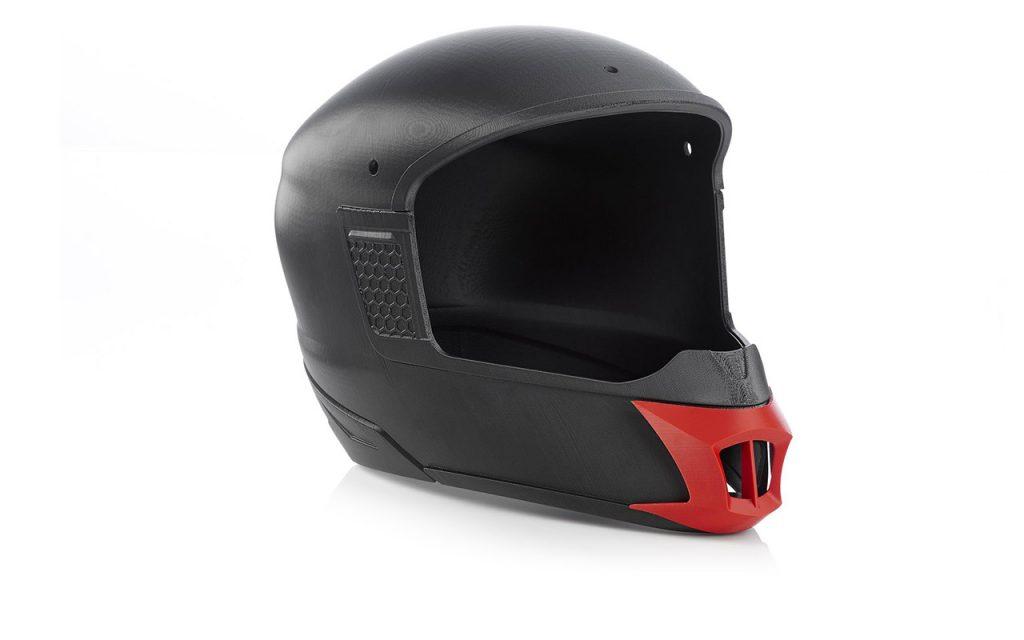 3D-gedruckter Prototyp eines Motorradhelms