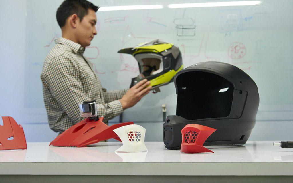 3D-gedruckte Helm Prototypen